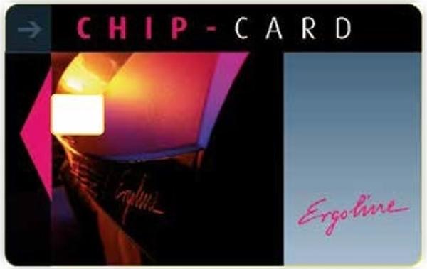 Immagine di Chipcard 4 colori 100 pz